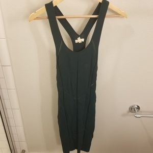 Tops - Teal Tank Dress with Cut Out Details